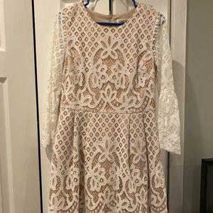 Eliza J - Cream Lace Dress